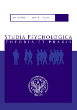 Studia Psychologica: Theoria et Praxis. okładka.