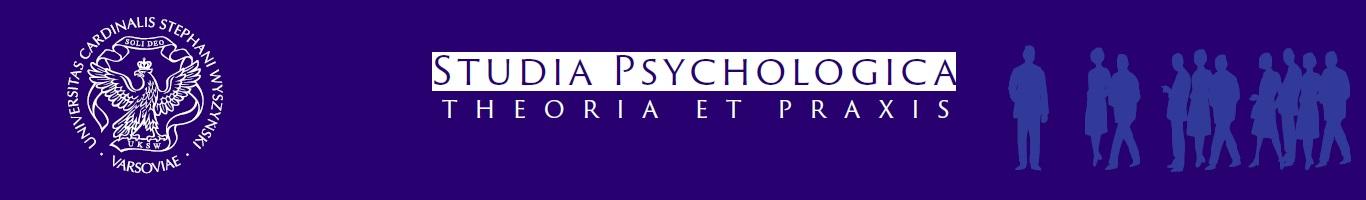 Studia Psychologica: Theoria et praxis. Banner.